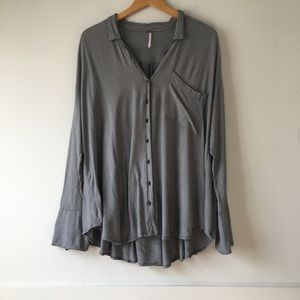 Free People Magic Breeze Buttons Down Shirt S